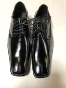 *ULTIMATE* Men's Black Pointed Indented Classic Dress Shoes FREE SHIPPING - SZ 9.5