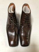 *ULTIMATE* Men's Dress BOOTS Brown Exotic Toe Pointed Shoe FREE SHIPPING - SZ 10.5