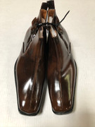 *ULTIMATE* Men's Dress BOOTS Brown Solid Round Pointed Shoe FREE SHIPPING - SZ 8.5