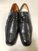 *ULTIMATE* Men's Charcoal Gray Exotic Print Pointed Toe Dress Shoes FREE SHIPPING - SZ 10