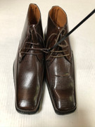 *ULTIMATE* Men's Dress BOOTS Brown Exotic Toe Pointed Shoes FREE SHIPPING - SZ 8.5