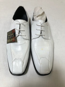 *ULTIMATE* Men's WIDE WIDTH White Exotic Print Pointed Toe Dress Shoes FREE SHIPPING - SZ 9.5W