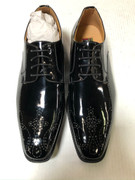*ULTIMATE* Men's Shiny Formal Unique Design Tux Pointed Toe Dress Shoe FREE SHIPPING - SZ 9.5