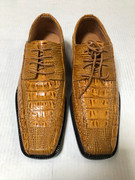 *ULTIMATE* Men's Mustard Exotic Croc Print Hot Toe Dress Shoe FREE SHIPPING - SZ 9