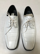 *ULTIMATE* Men's White Exotic Print Pointed Toe Dress Shoes FREE SHIPPING - SZ 11