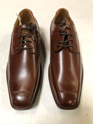 *ULTIMATE* Men's Tan Brown Smooth Toe Pointed Dress Shoes FREE SHIPPING - SZ 8.5