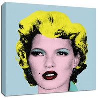 Banksy Canvas Print - Kate Moss