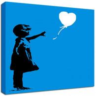 Banksy Canvas Print Square - Balloon Girl