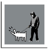 Banksy Canvas Print - Barking Dog