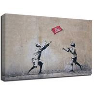 Banksy Canvas Print - No Ball Games