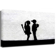 Banksy Canvas Print - Boy Meets Girl