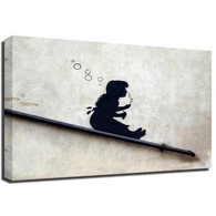 Banksy Canvas Print - Bubble Girl
