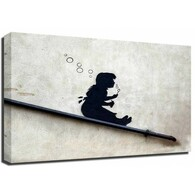 Banksy Canvas Print - Bubble Girl