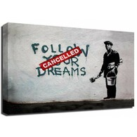 Banksy Canvas Print - Cancelled Dreams