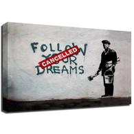 Banksy Canvas Print - Cancelled Dreams