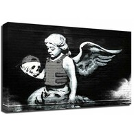 Banksy Canvas Print - Cherub