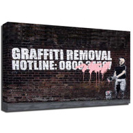 Banksy Canvas Print - Graffiti Removal