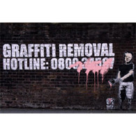 Banksy Canvas Print - Graffiti Removal