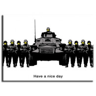 Banksy Canvas Print - Have A Nice Day