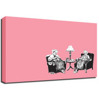 Banksy Canvas Print - Knitting Grannies