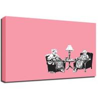 Banksy Canvas Print - Knitting Grannies