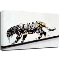 Banksy Canvas Print - Leopard
