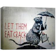 Banksy Canvas Print - Let Them Eat Crack