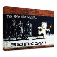 Banksy Canvas Print - Mild Mild West