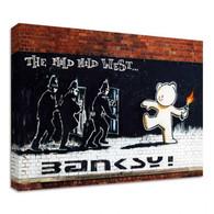 Banksy Canvas Print - Mild Mild West