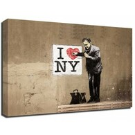 Banksy Canvas Print - I Love NY Doctor