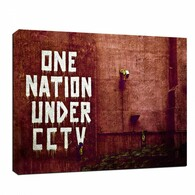 Banksy Canvas Print - One Nation Under CCTV