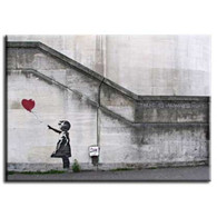 Banksy Canvas Print - Red Balloon Girl