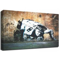 Banksy Canvas Print - Sniffing Copper