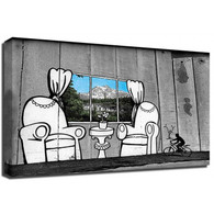 Banksy Canvas Print - Westbank