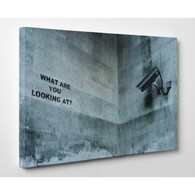 Banksy Canvas Print - What Are You Looking At