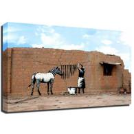 Banksy Canvas Print - Zebra