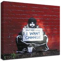 Banksy Canvas Print - I want change