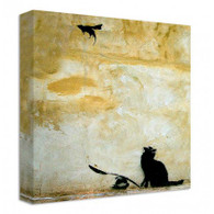 Banksy Canvas Print - Cat And Mouse
