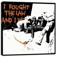 Banksy Canvas Print - Fought The Law