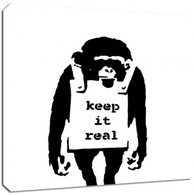 Banksy Canvas Print - Keep It Real