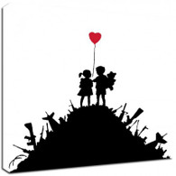 Banksy Canvas Print - Kids With Guns