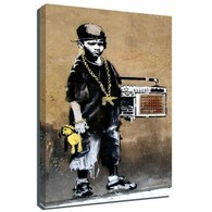 Banksy Canvas Print - Beatbox Boy