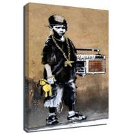 Banksy Canvas Print - Beatbox Boy