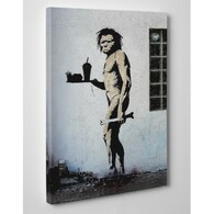 Banksy Canvas Print - Caveman