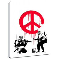 Banksy Canvas Print - CND Soldiers