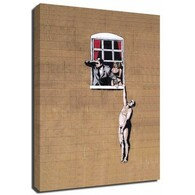 Banksy Canvas Print - Hanging Man