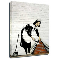 Banksy Canvas Print - Maid