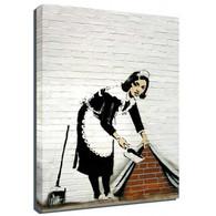 Banksy Canvas Print - Maid