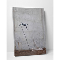 Banksy Canvas Print - Olympic Pole Vault