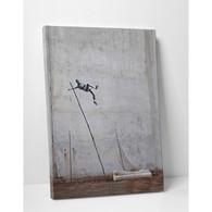 Banksy Canvas Print - Olympic Pole Vault